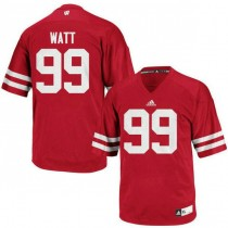 Mens Jj Watt Wisconsin Badgers #99 Authentic Red Colleage Football Jersey 102