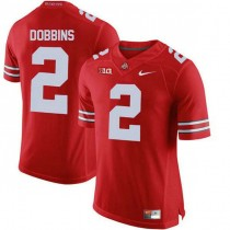 Mens Jk Dobbins Ohio State Buckeyes #2 Authentic Red College Football Jersey 102