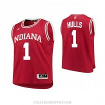 Mens Jordan Hulls Indiana Hoosiers #1 Swingman Red College Basketball Jersey