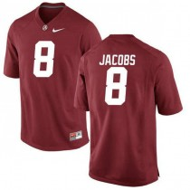 Mens Josh Jacobs Alabama Crimson Tide #8 Authentic Red Colleage Football Jersey 102