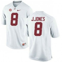Mens Julio Jones Alabama Crimson Tide #8 Authentic White Colleage Football Jersey 102