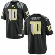 Mens Justin Herbert Oregon Ducks #10 Authentic Black College Football Jersey 102