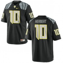 Mens Justin Herbert Oregon Ducks #10 Game Black College Football Jersey 102