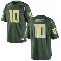 Mens Justin Herbert Oregon Ducks #10 Game Green College Football Jersey 102
