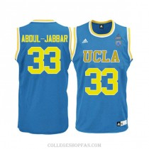 Mens Kareem Abdul Jabbar Ucla Bruins #33 Authentic Adidas College Blue Basketball Jersey
