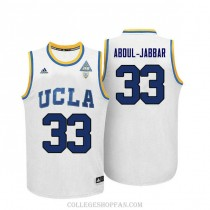 Mens Kareem Abdul Jabbar Ucla Bruins #33 Authentic Adidas College White Basketball Jersey