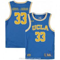 Mens Kareem Abdul Jabbar Ucla Bruins #33 Authentic Blue College Basketball Jersey