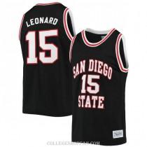 Mens Kawhi Leonard San Diego State Aztecs #15 Authentic Black College Basketball Jersey