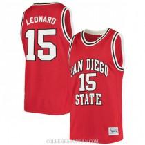 Mens Kawhi Leonard San Diego State Aztecs #15 Authentic Red College Basketball Jersey