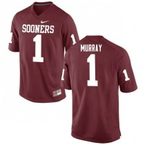 Mens Kyler Murray Oklahoma Sooners #1 Authentic Red College Football Jersey 102