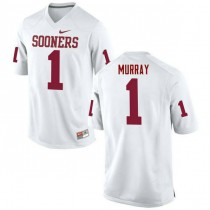 Mens Kyler Murray Oklahoma Sooners #1 Authentic White College Football Jersey 102