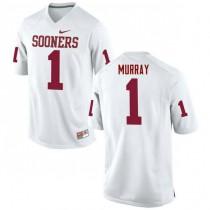Mens Kyler Murray Oklahoma Sooners #1 Game White College Football Jersey 102