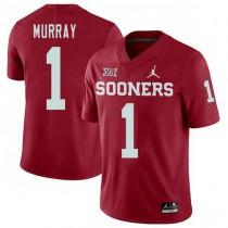 Mens Kyler Murray Oklahoma Sooners #1 Jordan Brand Authentic Red College Football Jersey 102