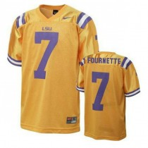 Mens Leonard Fournette Lsu Tigers #7 Authentic Gold College Football Jersey 102