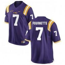 Mens Leonard Fournette Lsu Tigers #7 Authentic Purple College Football Jersey 102