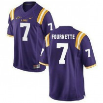 Mens Leonard Fournette Lsu Tigers #7 Game Purple College Football Jersey 102