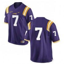 Mens Leonard Fournette Lsu Tigers #7 Game Purple College Football Jersey No Name 102