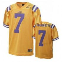 Mens Leonard Fournette Lsu Tigers #7 Limited Gold College Football Jersey 102