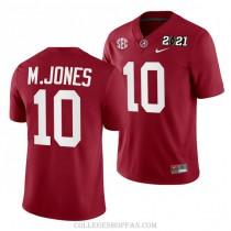 Mens Mac Jones Alabama Crimson Tide #10 Authentic Red 2021th College Football Jersey