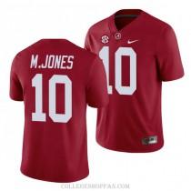 Mens Mac Jones Alabama Crimson Tide #10 Authentic Red College Football Jersey