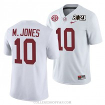 Mens Mac Jones Alabama Crimson Tide #10 Authentic White 2021th College Football Jersey