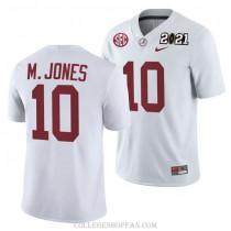 Mens Mac Jones Alabama Crimson Tide #10 Game White 2021th College Football Jersey