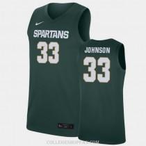 Mens Magic Johnson Michigan State Spartans #33 Swingman Blue College Basketball Jersey