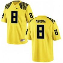 Mens Marcus Mariota Oregon Ducks #8 Authentic Yellow College Football Jersey 102