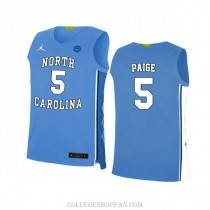 Mens Marcus Paige North Carolina Tar Heels #5 Authentic Blue College Basketball Unc Jersey