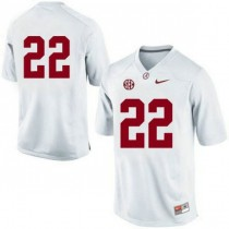 Mens Mark Ingram Alabama Crimson Tide #22 Authentic White Colleage Football Jersey No Name 102