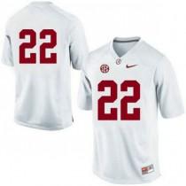 Mens Mark Ingram Alabama Crimson Tide #22 Game White Colleage Football Jersey No Name 102