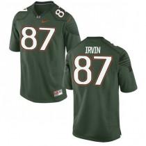 Mens Michael Irvin Miami Hurricanes #47 Game Green College Football Alternate Jersey 102