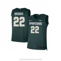 Mens Miles Bridges Michigan State Spartans #33 Authentic Blue Big College Basketball Jersey