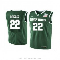 Mens Miles Bridges Michigan State Spartans #33 Authentic Blue College Basketball Jersey