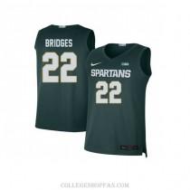 Mens Miles Bridges Michigan State Spartans #33 Swingman Blue Big College Basketball Jersey