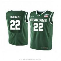 Mens Miles Bridges Michigan State Spartans #33 Swingman Blue College Basketball Jersey