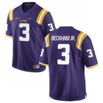 Mens Odell Beckham Jr Lsu Tigers #3 Authentic Purple College Football Jersey 102