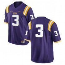 Mens Odell Beckham Jr Lsu Tigers #3 Authentic Purple College Football Jersey No Name 102