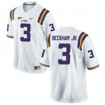 Mens Odell Beckham Jr Lsu Tigers #3 Authentic White College Football Jersey 102