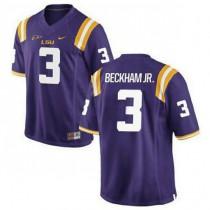 Mens Odell Beckham Jr Lsu Tigers #3 Game Purple College Football Jersey 102