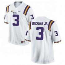 Mens Odell Beckham Jr Lsu Tigers #3 Game White College Football Jersey 102