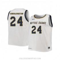 Mens Pat Connaughton Notre Dame Fighting Irish #24 Swingman White College Basketball Jersey