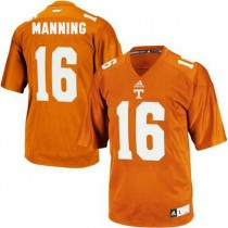 Mens Peyton Manning Tennessee Volunteers #16 Adidas Game Orange Colleage Football Jersey 102