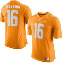 Mens Peyton Manning Tennessee Volunteers #16 Authentic Orange Colleage Football Jersey 102