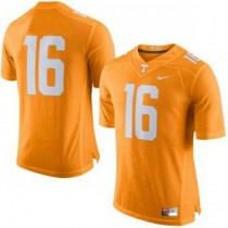Mens Peyton Manning Tennessee Volunteers #16 Authentic Orange Colleage Football Jersey No Name 102