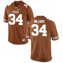 Mens Ricky Williams Texas Longhorns #34 Authentic Orange Colleage Football Jersey 102