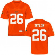 Mens Sean Taylor Miami Hurricanes #26 Authentic Orange College Football Jersey 102