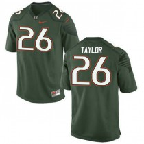 Mens Sean Taylor Miami Hurricanes #26 Game Green College Football Jersey 102
