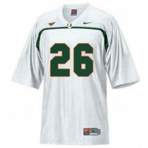 Mens Sean Taylor Miami Hurricanes #26 Game White College Football Jersey 102