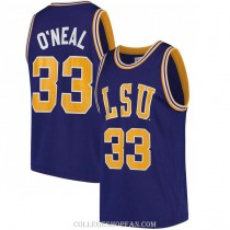 Mens Shaquille Oneal Lsu Tigers #33 Authentic Purple College Basketball Jersey